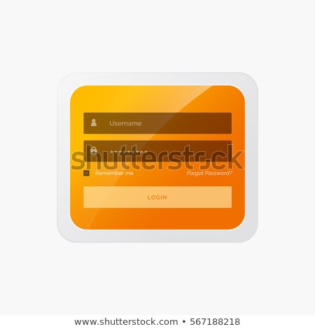 stylish login form in yellow theme for website and mobile applic Stock photo © SArts