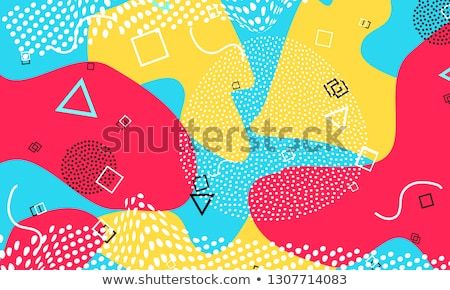 vector background with blue color splash retro style design for poster or cover stock photo © fresh_5265954