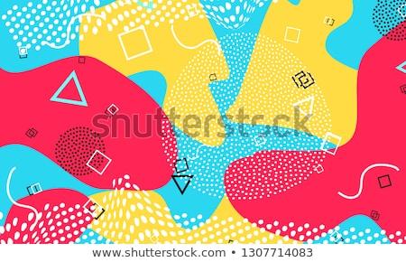 Vecteur bleu couleur Splash style rétro design Photo stock © fresh_5265954