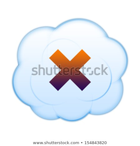 Cloud Computing with a negative sign. Dont. Stock photo © alexmillos