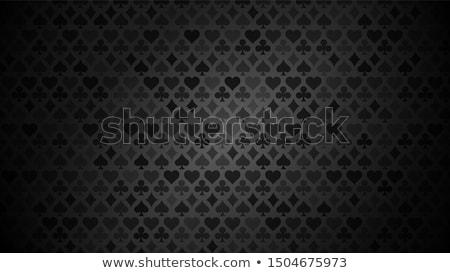 gyémánt · pikk · póker · kártya · fém · csillag - stock fotó © carodi