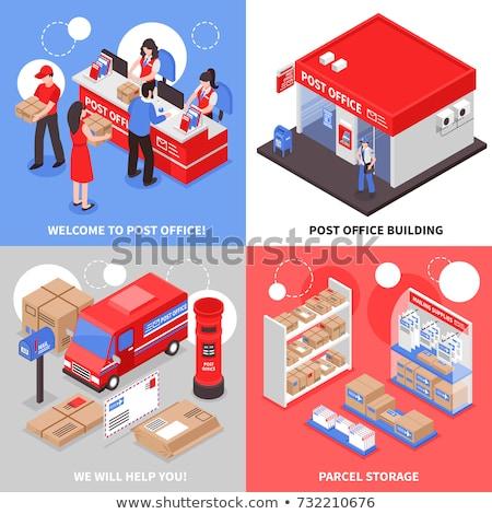 3D дизайна почтовое отделение иллюстрация фон искусства Сток-фото © bluering