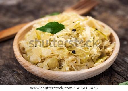 Káposzta saláta öreg fából készült répák étel Stock fotó © Yatsenko