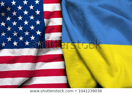 a boxing match between the usa and ukraine stock photo © zerbor