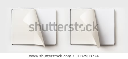 open book with page curl mockup template design Stock photo © SArts