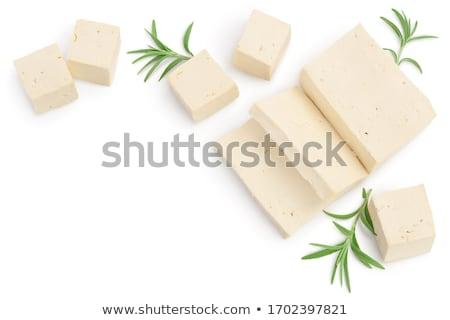 Ломтики боб Тофу свежие разделочная доска Сток-фото © Digifoodstock