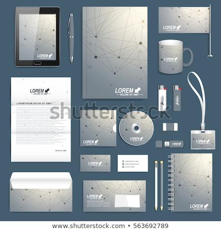 Minimal Briefkopf Design-Vorlage Zeilen Array drucken Stock foto © SArts