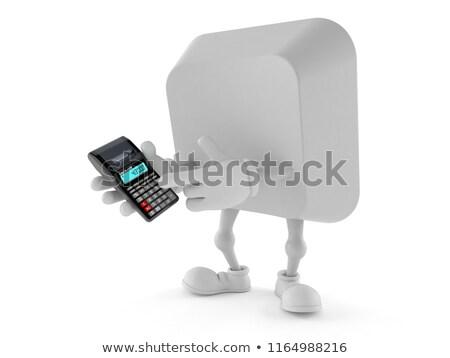 Guadagni calcolo messaggio bianco tastiera pulsante Foto d'archivio © tashatuvango