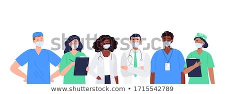 personnage · cardiologue · médecin · homme · femme · vecteur - photo stock © yamayo74