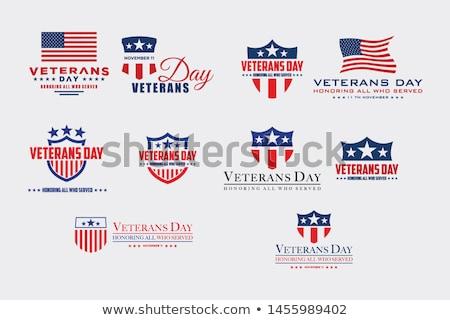 asker · amerikan · bayrağı · gün · dizayn · vatansever · ayakta - stok fotoğraf © ayaxmr