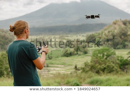 Man Flying Drone Stock photo © AndreyPopov