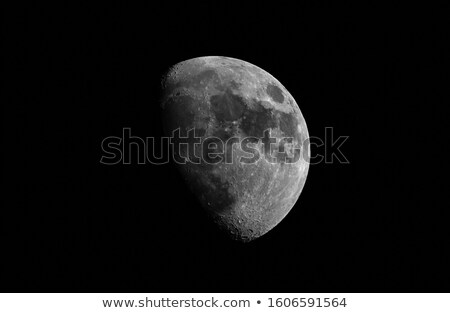 waxing gibbous moon with copy space stock photo © suerob