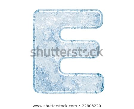 ice font letter e 3d stock photo © djmilic