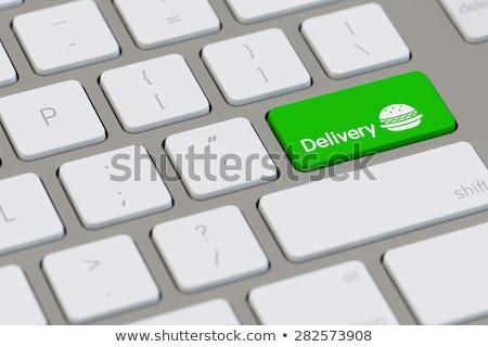 idő · házhozszállítás · futár · szolgáltatás · 3d · illusztráció · stopperóra - stock fotó © tashatuvango