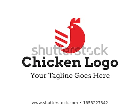 rooster logo template stock photo © ggs