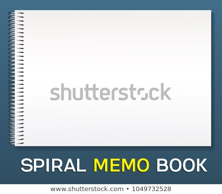 Notebook With Coil Spiral. Vector Spiral Notepad. Clean Mock Up For Your Design. Vector illustration Stock photo © pikepicture