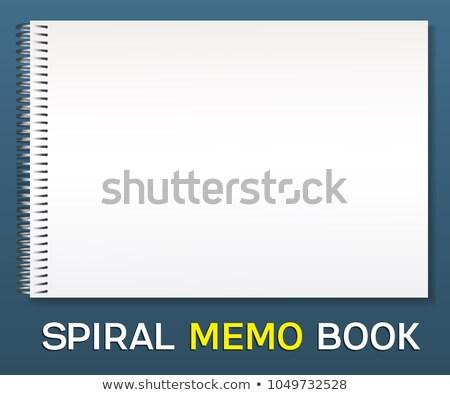 スパイラル · 帳 · ベクトル · 現実的な · ブラウン - ストックフォト © pikepicture