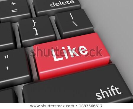 Tastatur rot Tastatur wie 3D-Darstellung schlank Stock foto © tashatuvango
