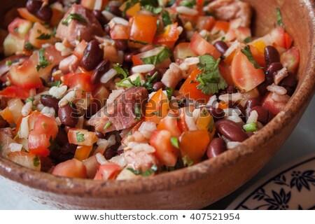 grasa · alimentos · placa · patrón · tela - foto stock © digifoodstock