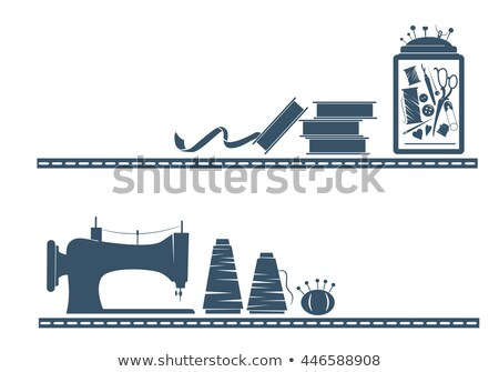 Sewing Tool Header Stencil Stock photo © lenm