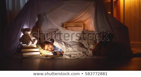 Girl sleeping on tent Stock photo © IS2