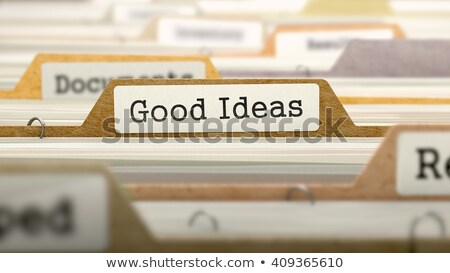Folder in Catalog Marked as Good Ideas. Stock photo © tashatuvango