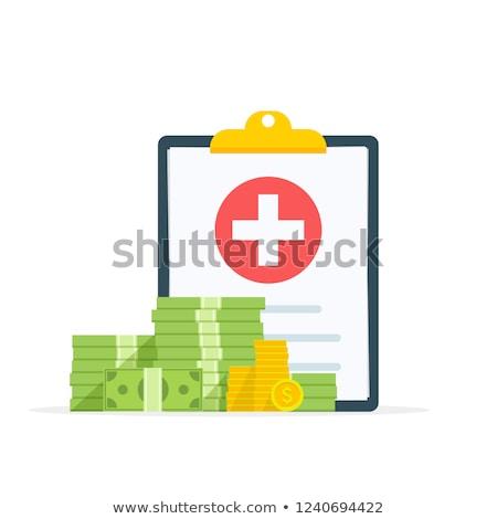 Foto stock: Médico · despesas · prescrição · garrafa · branco
