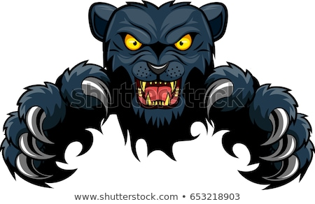 black panther mascot background breakthrough stock photo © krisdog