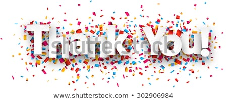 спасибо · конфетти · текста · прибыль · на · акцию · 10 · вектора - Сток-фото © limbi007
