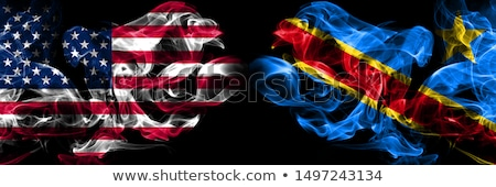 Football in flames with flag of republic of the congo Stock photo © MikhailMishchenko