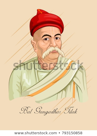 Indian background with Nation Hero and Freedom Fighter Bal Gangadhar Tilak Pride of India Stock photo © vectomart