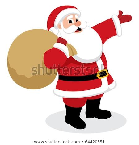 Cartoon Santa Claus present something vector illustration - isol Stock photo © NikoDzhi