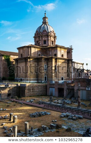 santi luca e martina church located between the roman forum and the forum of caesar rome italy stock photo © ankarb
