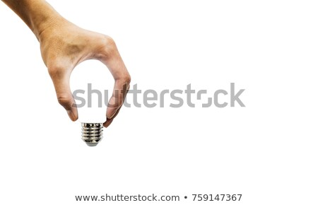 Asian businessman holding idea light bulb stock photo © studioworkstock