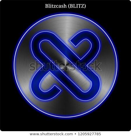Blitzcash Crypto Currency Coin. Vector Logo of BLITZ. Stock photo © tashatuvango