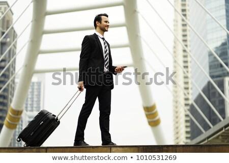 indiano · homem · mala · empresário · completo - foto stock © studioworkstock