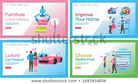 food and furniture store delivery posters stock photo © studioworkstock