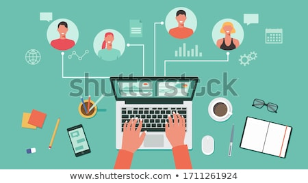 top view illustration of notebook stock photo © sonya_illustrations