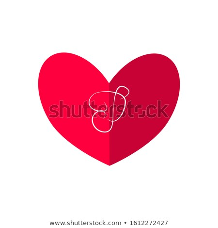 vector valentines day party flyer design with typography and heart on red background celebration p stock photo © articular