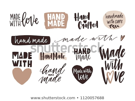 Liefde hand handgemaakt schoonschrift witte gelukkig Stockfoto © FoxysGraphic