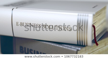Negócio livro título soluções 3D Foto stock © tashatuvango