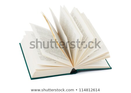 Livro isolado volume branco papel Foto stock © popaukropa