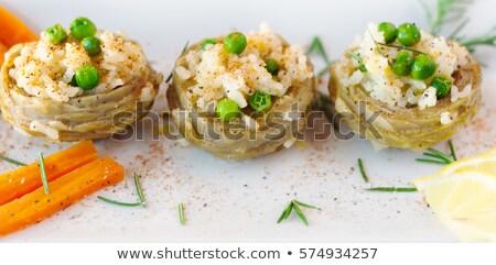 блюдо приготовленный уксус соль оливкового масла продовольствие Сток-фото © guillermo