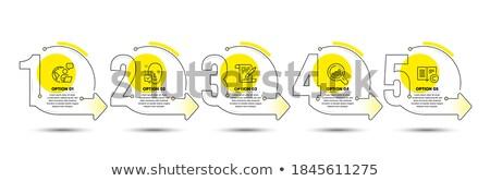 Derechos de autor objetivo arma vista símbolo blanco Foto stock © drizzd