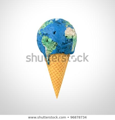 Fagylalt kúp világtérkép fagylalttölcsér atlasz térkép Stock fotó © unikpix