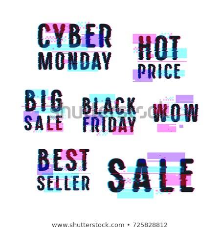 Black friday venda distintivo efeito 50 por cento Foto stock © SwillSkill