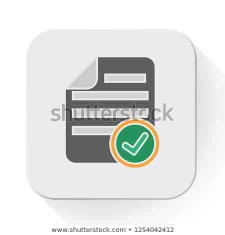 Siyah beyaz dosya ikon yalıtılmış beyaz iş Stok fotoğraf © kyryloff
