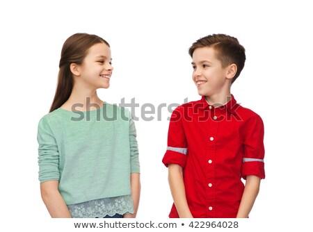 弟 · 姉妹 · 見える · その他 · 笑みを浮かべて · 幸せ - ストックフォト © monkey_business