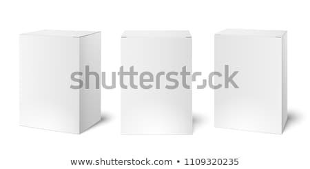 Fehér termék csomagolás doboz kártya házhozszállítás Stock fotó © Akhilesh