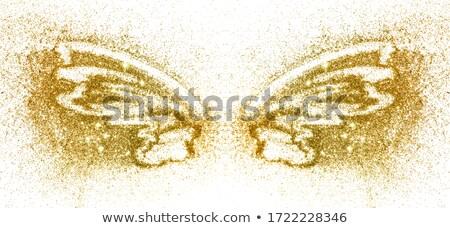 золото белый бабочки ювелирные черный фон Сток-фото © blackmoon979